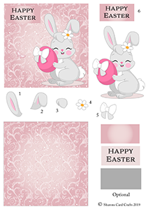 Easter Bunny Decoupage Cardsm