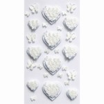 Artoz 3D Sticker Butterflies on Hearts