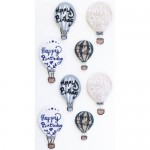 Artoz 3D Sticker Birthday Balloons