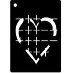 Creative Expressions Mini Stencil - Etched Hearts