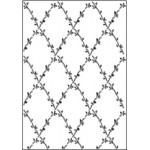 Crafts Too A4 Embossing Folder - Flower Lattice