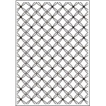 Crafts-Too Embossing Folder - Fancy Lattice A4
