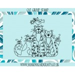 Sharons Card Crafts - Cat Group Stamp