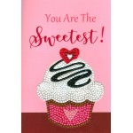 Crafts-Too Diamond Art Card Kits - Cup Cake Sweetest