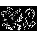 Die Cuts - Flourishes 1 - White