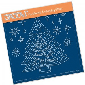 Clarity Groovi - During this Christmas Verse Embossing Plate