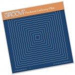 Clarity Groovi - Nested Squares Embossing Plate