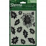Crafters Companion  Sheena Douglass Embossing Folder - Poinsettia Plethora
