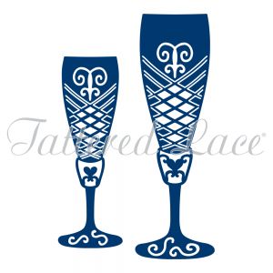 Tattered Lace - Champagne Glasses