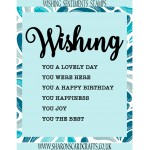 Sharons Card Crafts - Wishing Sentiments Stamp