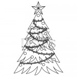 Sleek Designs - Christmas Tree with Ribbon