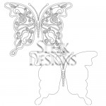 Sleek Designs - Floral Butterfly and Background