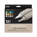 Crafters Companion Spectrum Noir Graphic 12 Pen Set - Cityscape