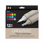 Crafters Companion Spectrum Noir Graphic 12 Pen Set - Design