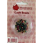 Woodware - Mini Round Brads - Deep Colours