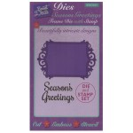 Sweet Dixie Christmas Dies - Seasons Greetings Frame Die with Stamp