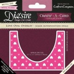 Crafters Companion Die'sire Create-a-Card - Love Oval Overlay
