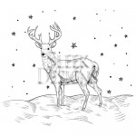 Sleek Designs - Reindeer Scene