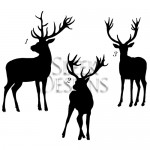 Sleek Designs - Reindeer Silhouettes