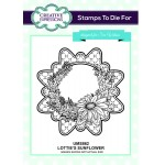 Creative Expressions Pre-Cut Rubber Stamps by Sue Wilson - Finishing Touches Collection -  Lotties Sunflower