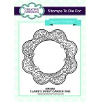 Creative Expressions Pre-Cut Rubber Stamps by Sue Wilson - Finishing Touches Collection - Claires Sweet Garden Vine